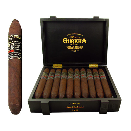 Gurkha Cellar Reserve Limitada 15 Year Hedonism Open Box and Stick