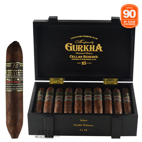 Gurkha Cellar Reserve Limitada 15 Year Solara Open Box and Stick
