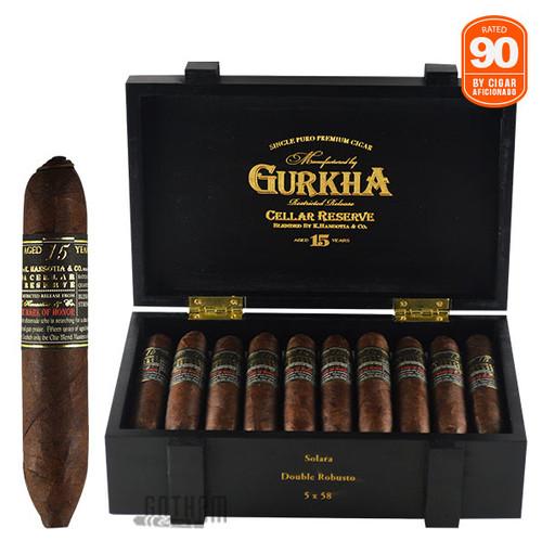 Gurkha Cellar Reserve Limitada 15 Year Solara Open Box and Stick