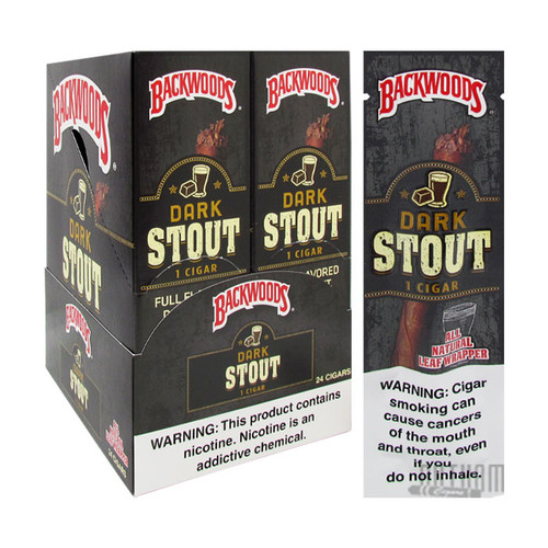 Backwoods Dark Stout Natural Cigars Singles Box and Foil Pack