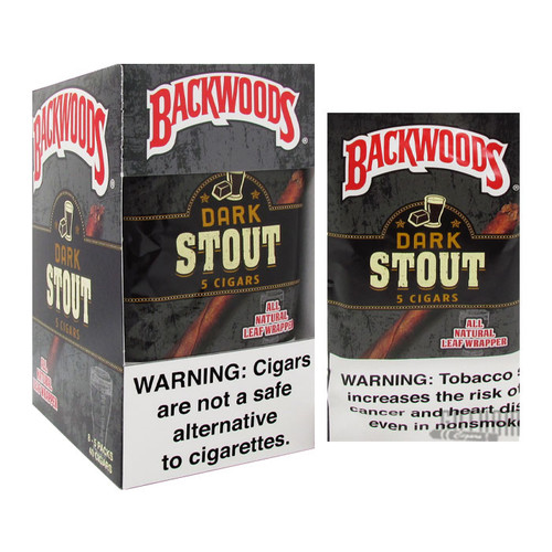 Backwoods Dark Stout Box and Foil Pack