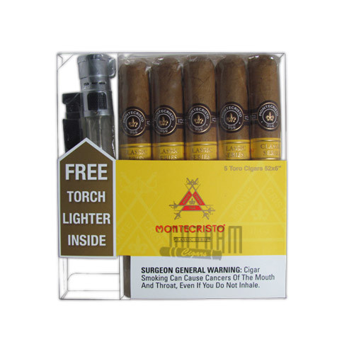 Montecristo Classic Collection Toro with Free Torch Lighter