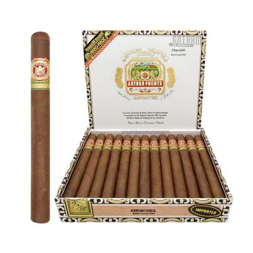 Arturo Fuente Churchill Natural Open Box and Stick