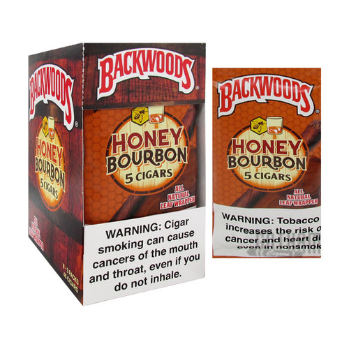 Backwoods Honey Bourbon Box and Foil Pack