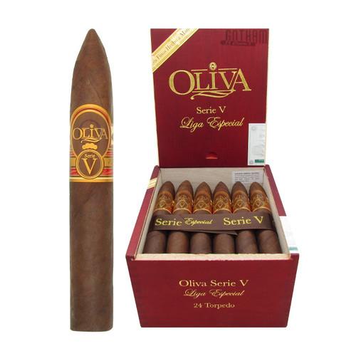 Oliva Serie V Torpedo Open Box and Stick