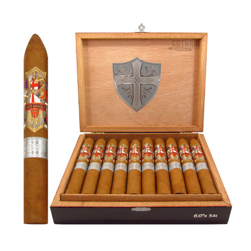 Ave Maria Immaculata Belicoso Open Box and Stick