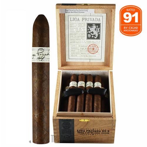 Liga Privada No. 9 Belicoso open Box and stick