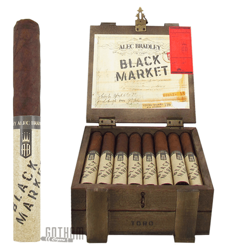 Alec Bradley Black Market Toro Open Box and Stick