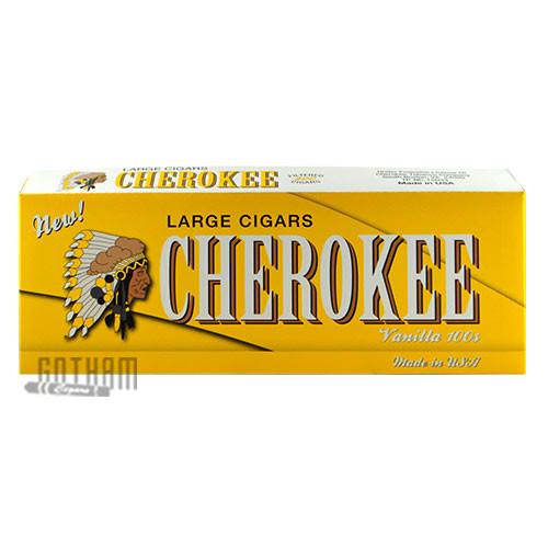 Cherokee Filtered Cigars Vanilla Box