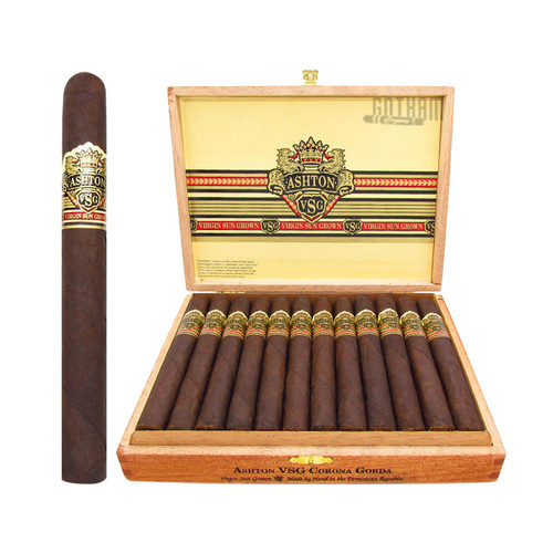 Ashton VSG Corona Gorda Open Box and Stick