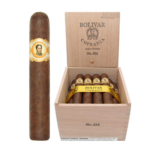 Bolivar Cofradia No. 554 Open Box and Stick