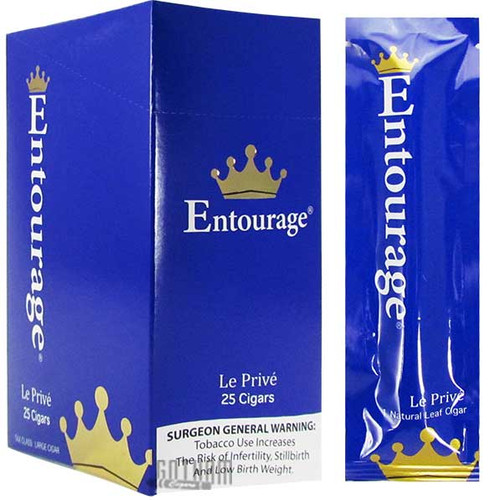 Entourage Le Prive carton and pack