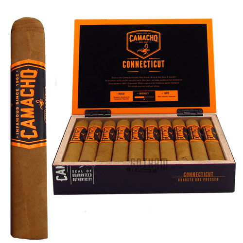 Camacho BXP Connecticut Robusto Box & Stick