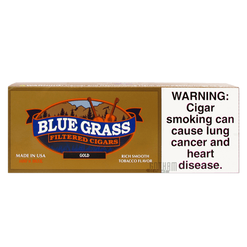 Blue Grass Filtered Cigars Gold 100's