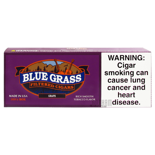Blue Grass Filtered Cigars Grape 100's