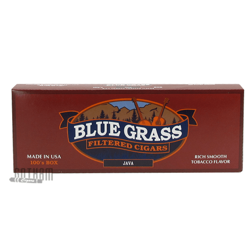 Blue Grass Filtered Cigars Java 100's Box