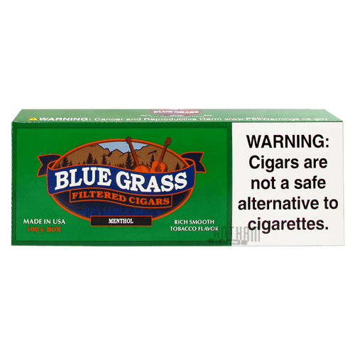 Blue Grass Filtered Cigars Menthol 100's