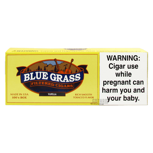 Blue Grass Filtered Cigars Vanilla 100's carton