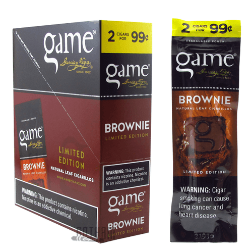 Game Cigarillos Brownie Box and Pack