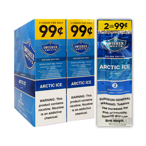 Swisher Sweets Cigarillos Arctic Ice Box and Foil Pack