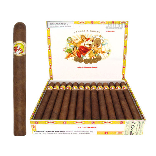La Gloria Cubana Churchill Open Box and Stick