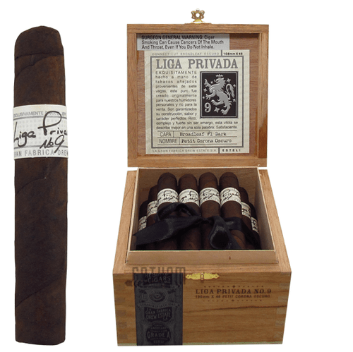 Liga Privada No. 9 Petit Corona Box and Stick