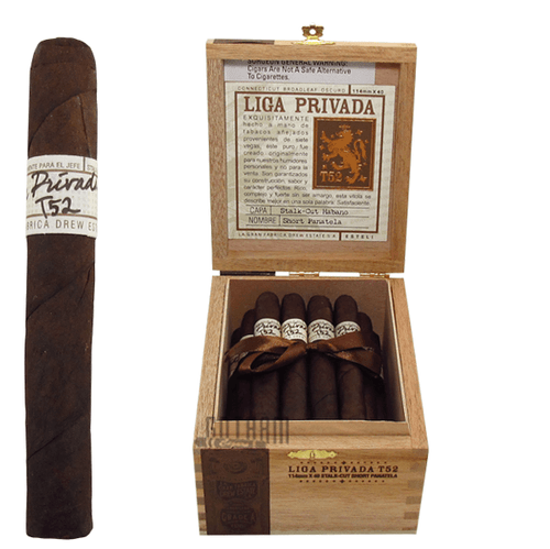 Liga Privada T52 Short Panatela Box and Stick