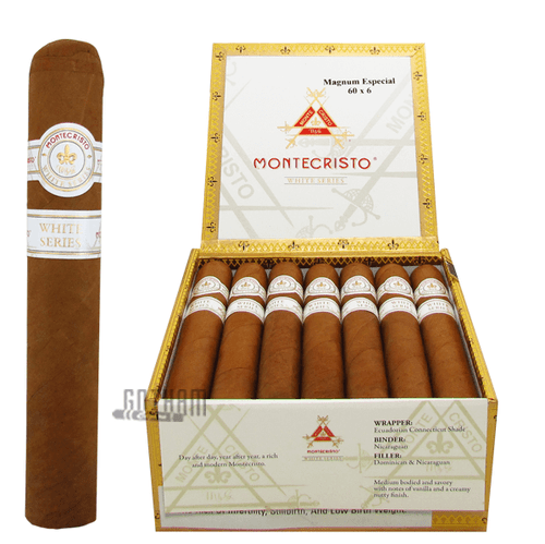 Montecristo White Magnum Especial Open Box and Stick