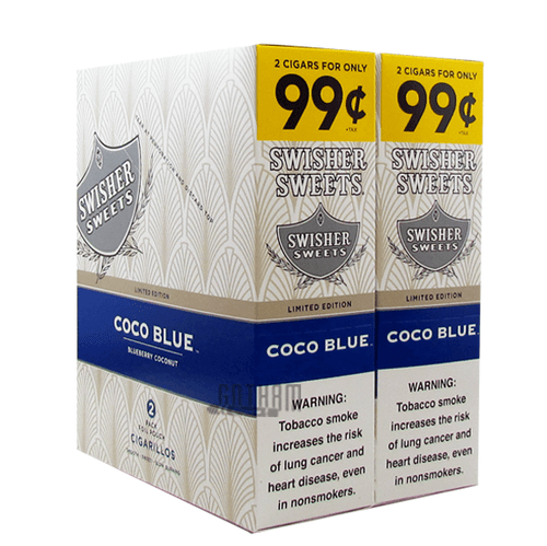 Swisher Sweets Cigarillos Coco Blue Box