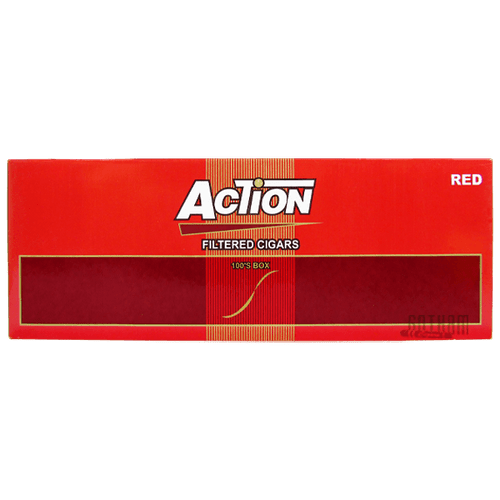 Action Filtered Cigars Red 100's Box
