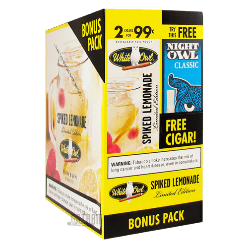 White Owl Cigarillos Spiked Lemonade + Night Owl Classic