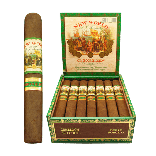 New World Cameroon Doble Robusto Box and Stick