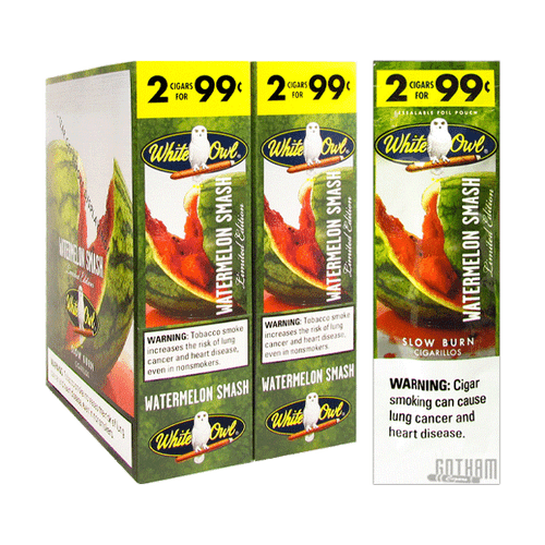 White Owl Cigarillos Watermelon Smash Box and Foil Pack