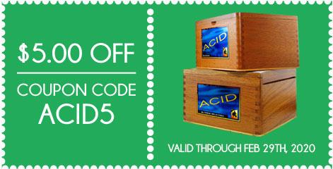 ACID Cigars $5.00 OFF! Coupon Code