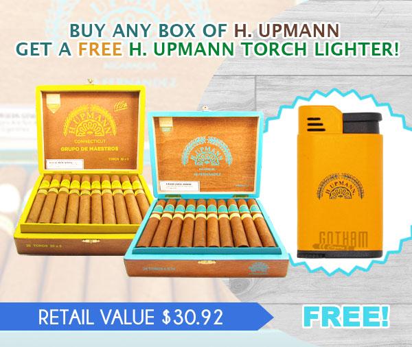BUY ANY BOX OF H. UPMANN GET A FREE H. UPMANN TORCH LIGHTER!