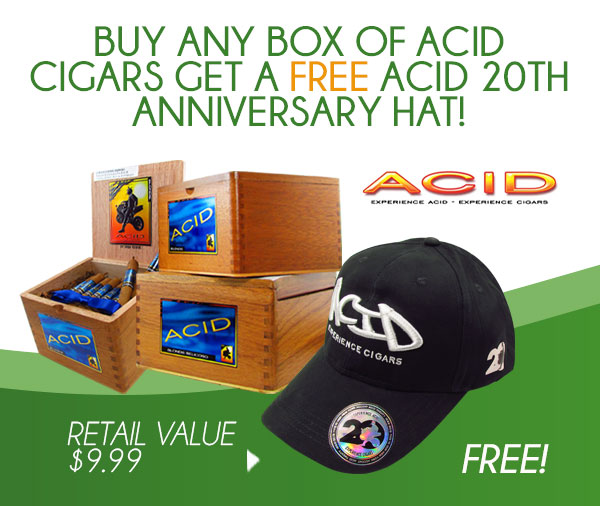 Buy any Box of ACID get a FREE ACID 20TH Anniversary Hat!