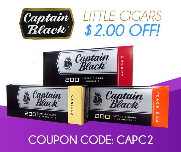 Captain Black Little Cigars $2.00 OFF!