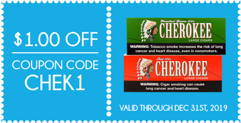 Cherokee Filtered Cigars $1.00 OFF!