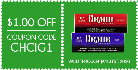 Cheyenne Filtered Cigars Coupon
