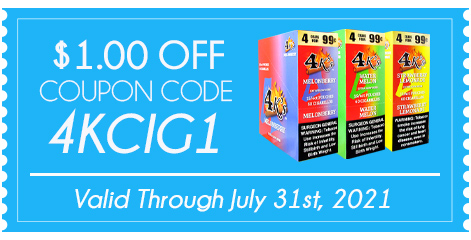 GOOD TIMES 4K'S CIGARILLOS $1.00 OFF!