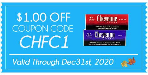 Cheyenne Filtered Cigars $1.00 OFF!