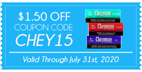 Cheyenne Filtered Cigars $1.50 OFF!