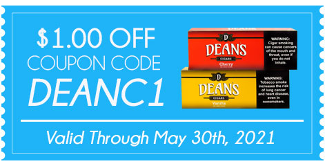 COUPON CODE DEAN'S FILTERED CIGARS