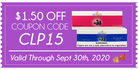 Clipper Filtered Cigars $1.50 OFF!