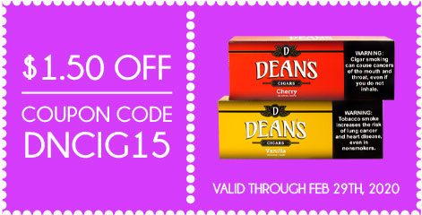 Dean's Filtered Cigars $1.50 OFF! Coupon Code