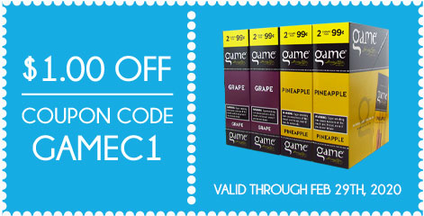 Game Cigarillos $1.00 OFF! Coupon Code