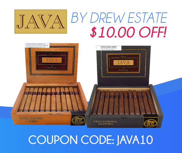 JAVA Cigars $10.00 OFF!