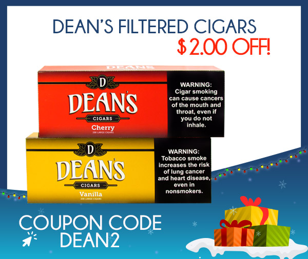 Dean's Filtered Cigars $2.00 OFF!