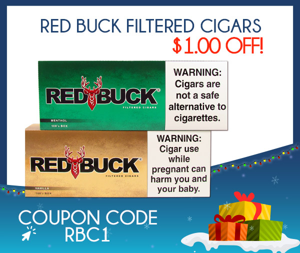 Red Buck Filtered Cigars $1.00 OFF!