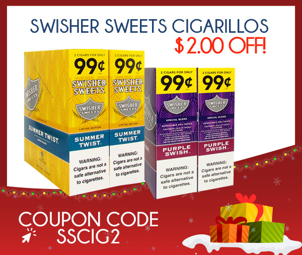 Swisher Sweets Cigarillos $2.00 OFF!